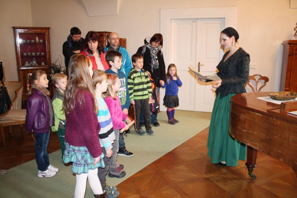 Děti poznájí formou prohlídky historii děčínského zámku